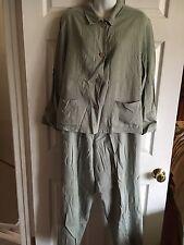 J. JILL Women's Pants Jacket Suit - Linen/Rayon Blend - Size 12P/Medium. EUC