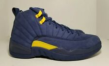 3a79be91958 Nike Jordan Retro 12 Michigan NRG College Navy BQ3180-407 Men s Shoes Size  10