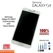 NEW Samsung Galaxy S5 (SM-G901F) LCD & Digitiser Assembly with Home Button WHITE