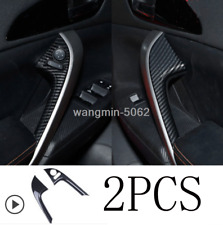 Carbon Fiber Look Door Handle Strip Cover trim For Mitsubishi Eclipse Cross 2018