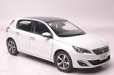 Peugeot 308S car model in scale 1:18 white