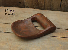 "Reproduction Treenware Resin Scoop -- 6"" long x 4"" wide"