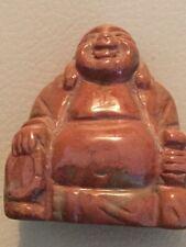 Edelsteinbuddha Roter Jaspis Happy Buddha Feng Shui Glück und Reichtum