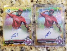 2017 Bowman Chrome Gold Refractor Shimmer ADONIS MEDINA AUTO /50 Phillies