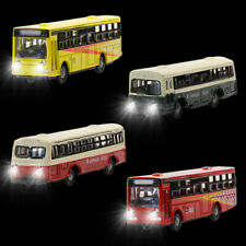 4pcs Model Lighted Buses Diecast N scale 1:150 Cars With 12V LED Building Layout