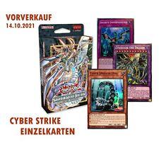 Yugioh Cyber Strike Structure Deck Einzelkarten Auswahl DE | VORVERKAUF 14.10.21