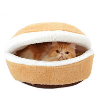 Pet Hamburger Shaped Nest Cat Dog Warm Bed Puppy Detachable Cave Sleeping Bag