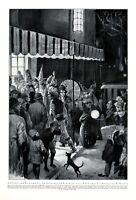 Kostümbal Eingang Redoutensaal XL Kunstdruck 1926 Ballsaal Kostümfest Karneval