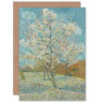 Van Gogh The Pink Peach Tree Blank Greeting Card With Envelope