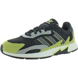 Adidas Mens Tresc Run Black Mesh Running Shoes Sneakers 10 Medium (D)  5718