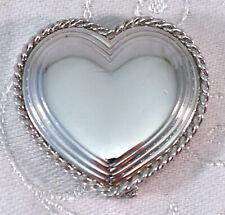 Vintage Estee Lauder Solid Perfume SILVER HEART Compact Still Full