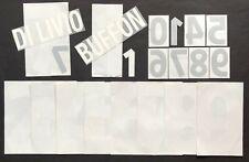 Set Name + Numero-Numeri Official Italy Home Official Nameset