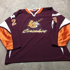 BROTHER RICE CRUSADERS VTG Chicago Catholic High School Hockey Jersey XL Sewn