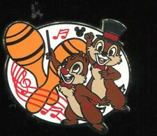 DLR Hidden Mickey 2019 Musicians Chip and Dale Disney Pin