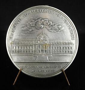Essai médaille argent Louis XV Construction de l'Ecole militaire Duvivier re1749