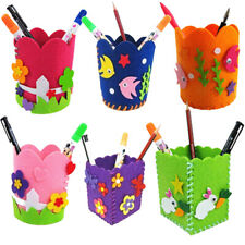 Cute Creative Handmade Pen Container DIY Pencil Holder Kids Baby Craft Toy Kits