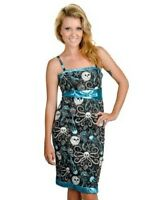 TOO FAST LADIES MELODY FLIPPER DRESS BLACK/BLUE (B2C)