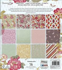DOVECRAFT PREMIUM 8 X 8  SAMPLE PACK PAINTED BLOOMS 1 OF EACH DESIGN - 12 SHEETS