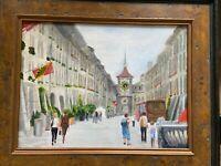Spitalgasse Berne, Switzerland street, oil painting by Melling