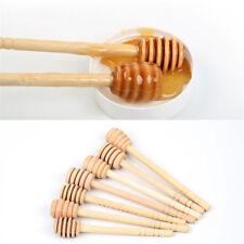 2pcs Wooden Honey Dipper Wood Stirring Stick Jam Rod Spoon Dip Drizzler Server