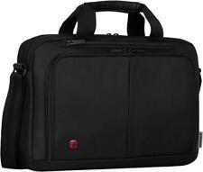 "Wenger SOURCE 14"" Padded Laptop Briefcase with Tablet Pocket - Black {6 Litres}"