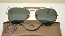 1960's B&L Ray-Ban Aviator Sunglasses 58 / 14 Gold Frame Green Lens USA
