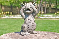 Gartendrache hält sich die Augen zu - MystiCalls - Drachen Deko Figur Outdoor
