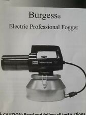 Burgess Electrical  Thermo Fogger 982 110V can also be used for disinfecting biz