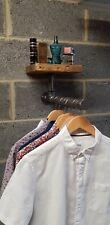 Steampunk industrial Design Clothes rail and shelf