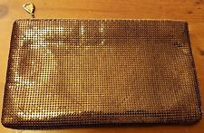 Vintage, Whiting and Davis Co, 1970s, Bronze, Mesh, Clutch Handbag
