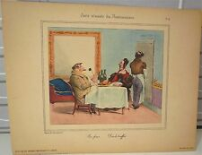 Lithographie, caricature de Grandville, restaurateur- World FREE Shipping* pl4