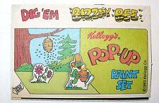 VINTAGE 1983 KELLOGG'S DIG'EM POP UP PAINT SET CEREAL PREMIUM UNUSED