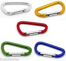 5 Mixte Fermoirs Mousqueton Escalade Camp D-Ring Porte-clés 6.6x3.7cm B20942