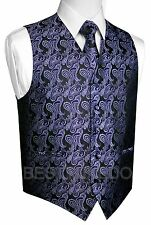 Men's Paisley Tuxedo Vest, Tie and Hankie. Formal, Dress, Wedding, Prom, Cruise