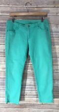 Garnet Hill Pants Size 8 Petite Mint Green Skinny Ankle Zip at Ankle