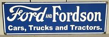 FORD AND FORDSON ENAMEL SIGN 900MM X 300MM (MADE TO ORDER) #17