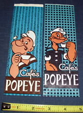 "VINTAGE POPEYE CAFE BAGS LOT (2) MINT 7"" BLUE ! UNUSED COFFEE BAGS M"