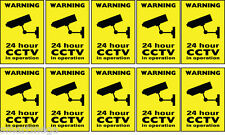 10 Warning CCTV camera window stickers signs decals 50mm x 75mm