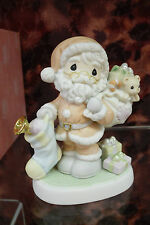 """Precious Moments #112880 """"May Your Heart Be Filled With Christmas Joy"""" Santa-NEW"""