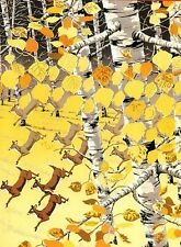 """""""ASPEN GROVE BALLET"""" Morphing Image Deer Autumn Trees BOXLESS Jigsaw Puzzle *NEW"""