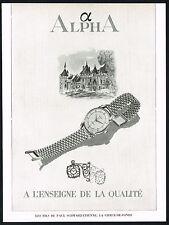 1940s Vintage 1947 Paul Schwarz-Etienne Alpha Watch Mid Century Art Print AD