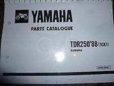 YAMAHA TDR 250 3CK1 88 PARTS LIST MANUAL CATALOGUE 183CK-300E1 YPVS.