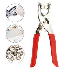 Metal Prong Ring Snap Fasteners Press Studs Poppers 9.5mm 100set Pliers Incl