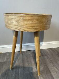 Retro Mid Century Style Side Table Storage Unit