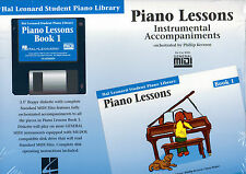 Leçons de piano book 1 instrumental accompagnements midi disque hal leonard student