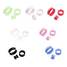 2pcs Thin Silicone Tunnels Plugs Flexible Ear Gauges Ear Skin Earlets Earskin