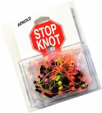 K&E Arnold Bobber Stops Stop Knot 36 Pack Orange Green & Pink NEW