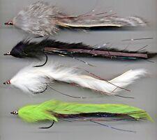 Pike Flies: Bunny Pike flies x 4 size 4/0 approx 170mm long (code 260)