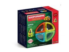 Brand New Magformers Curve 20 Set Magnets Arch Cone Squares Magnetic Shapes Toy