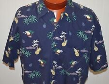 Pendleton Men's Shirt Large Hawaiian Pineapple Cars Palm Trees